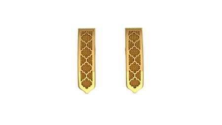 Kolczyki srebrne Classic Gold