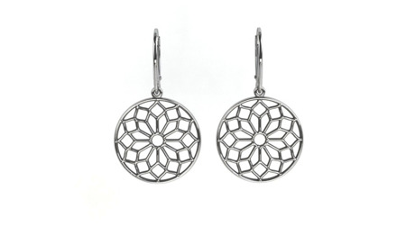 Earrings Chartres White
