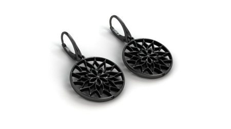 Earrings Yorkshire Black