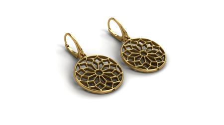 Kolczyki pozłacane Chartres Gold