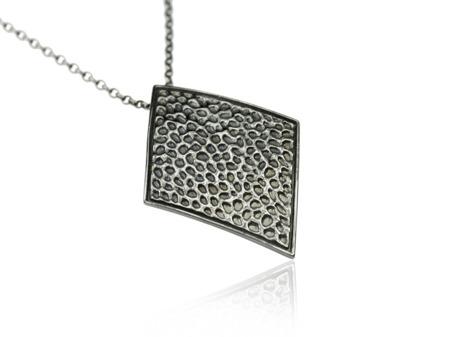 Naszyjnik srebrny Vesuvio Black