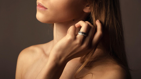 Obrączka Korona Silver