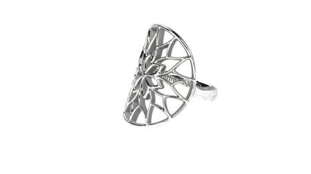 Pierścionek srebrny Yorkshire White